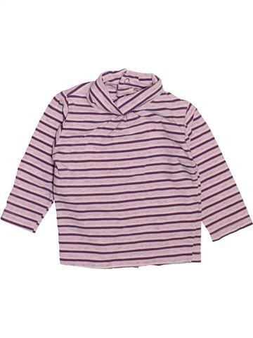 T-shirt col roulé fille KIMBALOO rose 6 mois hiver #1492668_1