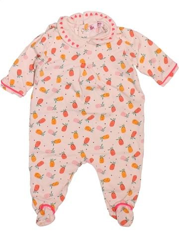 Pyjama 1 pièce fille DPAM blanc 1 mois été #1492702_1