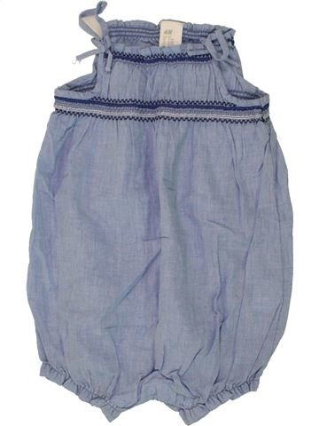 Combinaison courte fille H&M bleu 18 mois été #1492750_1