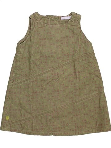 Vestido niña OKAIDI marrón 12 meses invierno #1492758_1