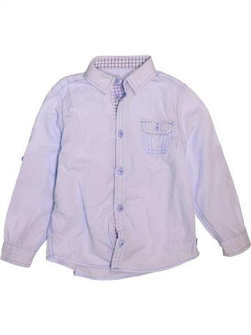 Chemise manches longues garçon OKAIDI gris 4 ans hiver #1492820_1