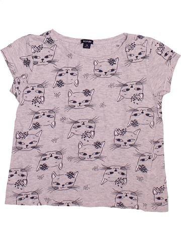 T-shirt manches courtes fille KIABI gris 5 ans été #1492946_1