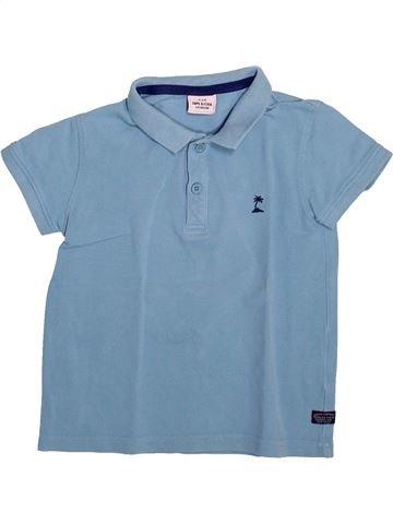 Polo manches courtes garçon TAPE À L'OEIL bleu 4 ans été #1492971_1