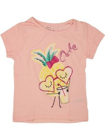 Camiseta de manga corta niña PEP&CO beige 6 años verano #1493348_1