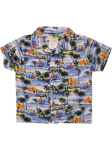 Chemise manches courtes garçon AL&RAY gris 18 mois été #1493352_1