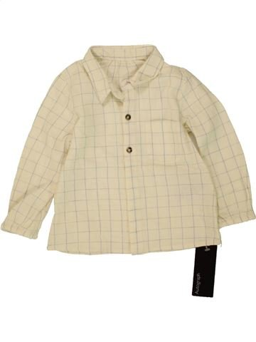 Chemise manches longues garçon MARKS & SPENCER beige 12 mois hiver #1493362_1