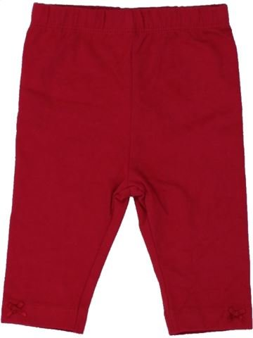 Legging fille GEORGE rouge 3 mois hiver #1493384_1