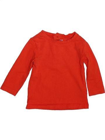 T-shirt manches longues garçon DPAM rouge 3 mois hiver #1493392_1