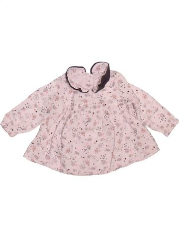 Blouse manches longues fille DPAM rose 6 mois hiver #1493429_1