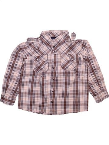 Camisa de manga larga niño LA REDOUTE CRÉATION violeta 4 años invierno #1493576_1