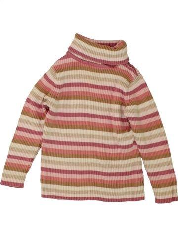 Camiseta de cuello alto niña GEORGE rosa 18 meses invierno #1493600_1