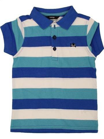 Polo de manga corta niño GEORGE azul 3 años verano #1493815_1