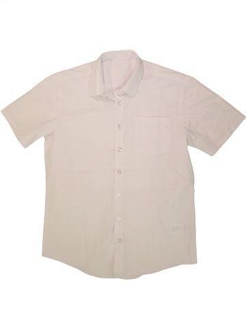 Chemise manches courtes garçon GEORGE bleu 13 ans été #1493829_1