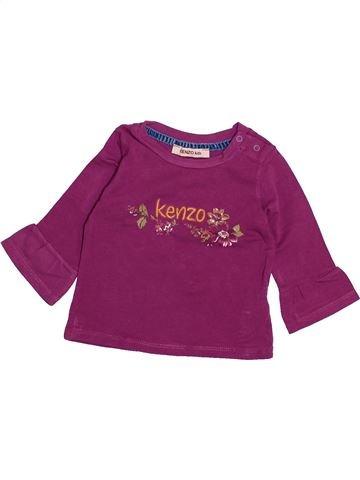 T-shirt manches longues fille KENZO violet 6 mois hiver #1494071_1