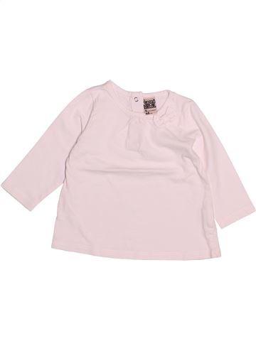 T-shirt manches longues fille TAPE À L'OEIL rose 6 mois hiver #1494072_1