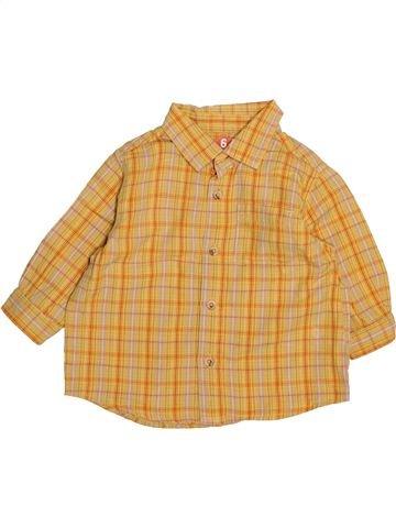 Chemise manches longues garçon DPAM orange 6 mois hiver #1494092_1
