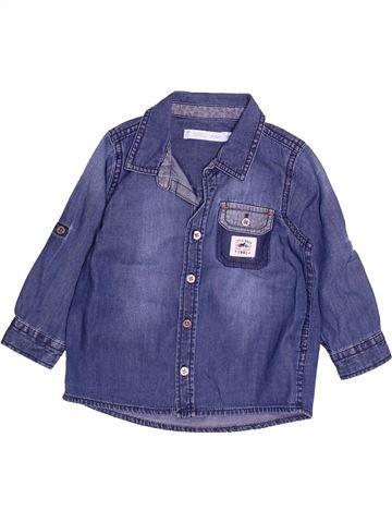 Chemise manches longues garçon GEMO bleu 18 mois hiver #1494213_1