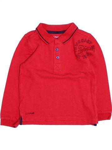 Polo manches longues garçon KIMBALOO rouge 3 ans hiver #1494264_1