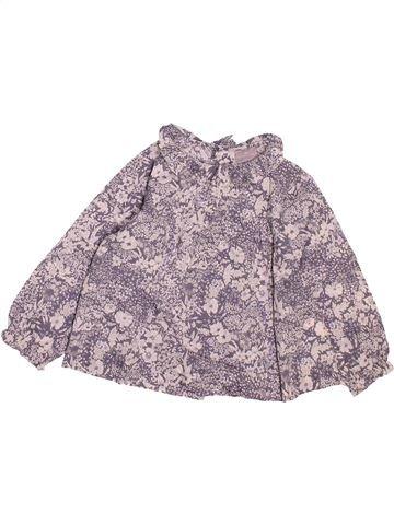 Blouse manches longues fille CYRILLUS violet 18 mois hiver #1494351_1