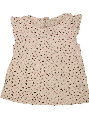Blouse manches courtes fille H&M beige 7 ans été #1494508_1