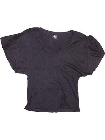 T-shirt manches courtes fille PETIT BATEAU bleu 12 ans été #1494627_1