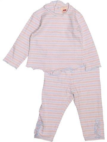 Pijama de 2 piezas niña 3 POMMES violeta 9 meses verano #1494643_1