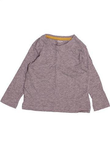 T-shirt manches longues garçon VERTBAUDET gris 2 ans hiver #1494741_1