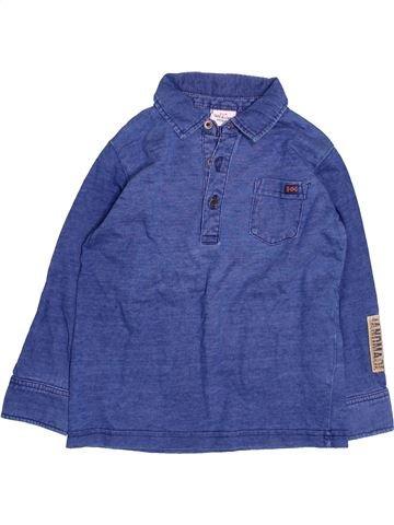 Polo manches longues garçon TAPE À L'OEIL bleu 3 ans hiver #1494759_1