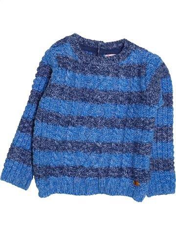 Pull garçon DPAM bleu 2 ans hiver #1494778_1