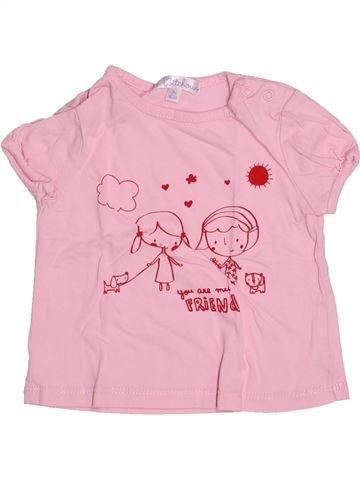 Camiseta de manga corta niña KIABI violeta 3 meses verano #1494795_1