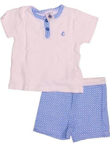 Pyjama 2 pièces fille PETIT BATEAU blanc 3 mois été #1494797_1