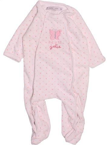 Pyjama 1 pièce fille GEMO rose 3 mois hiver #1494814_1