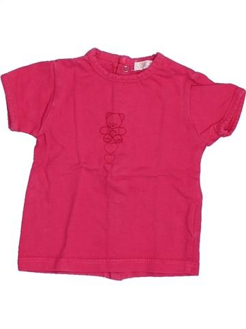 Camiseta de manga corta niña KIABI rosa 3 meses verano #1494833_1