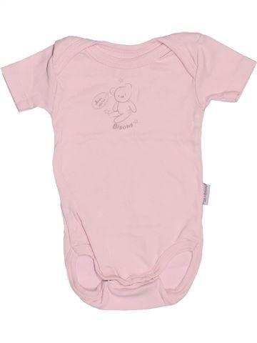 Camiseta de manga corta niña P'TIT BISOU rosa 3 meses verano #1494868_1