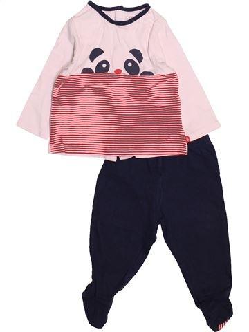 Pyjama 2 pièces garçon OKAIDI violet 6 mois été #1494963_1