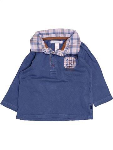 Polo manches longues garçon OKAIDI bleu 6 mois hiver #1494977_1