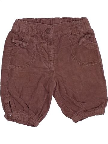 Pantalon fille TAPE À L'OEIL marron 3 mois hiver #1494994_1