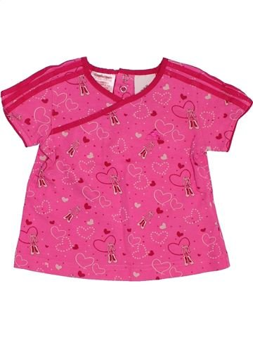 Camiseta de manga corta niña ADIDAS rosa 6 meses verano #1495028_1
