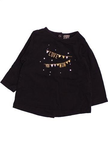 T-shirt manches longues fille TAPE À L'OEIL noir 9 mois hiver #1495037_1