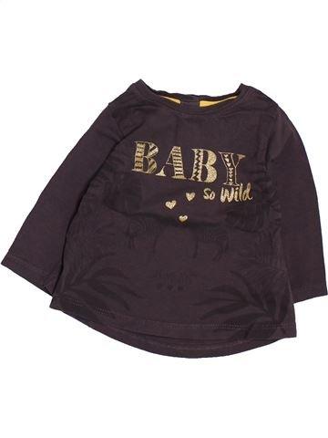 T-shirt manches longues fille TAPE À L'OEIL beige 3 mois hiver #1495064_1