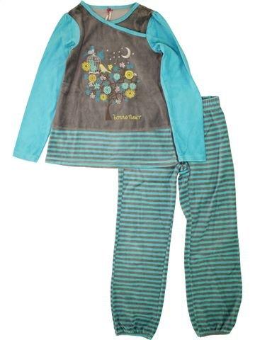 Pyjama 2 pièces fille ORCHESTRA vert 10 ans hiver #1495091_1