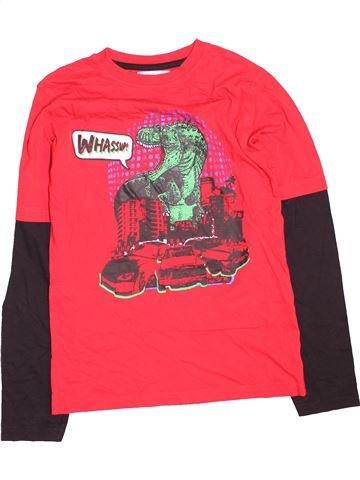 T-shirt manches longues garçon M&CO rouge 12 ans hiver #1495132_1