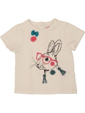 T-shirt manches courtes fille ORCHESTRA beige 12 mois été #1495282_1