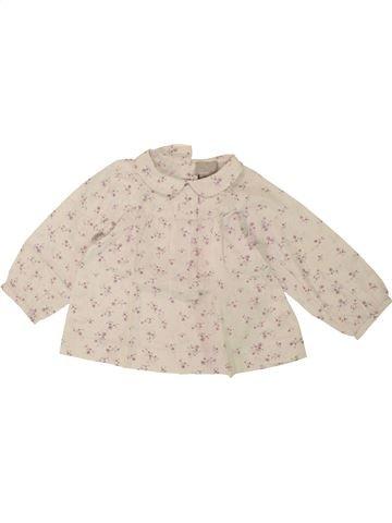 Blusa de manga larga niña CYRILLUS beige 12 meses invierno #1495554_1