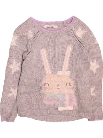 Pull fille GEORGE gris 6 ans hiver #1495563_1