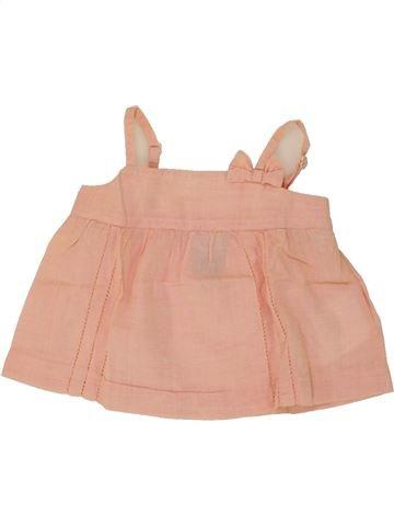 Blusa de manga corta niña CYRILLUS rosa 6 meses verano #1495581_1