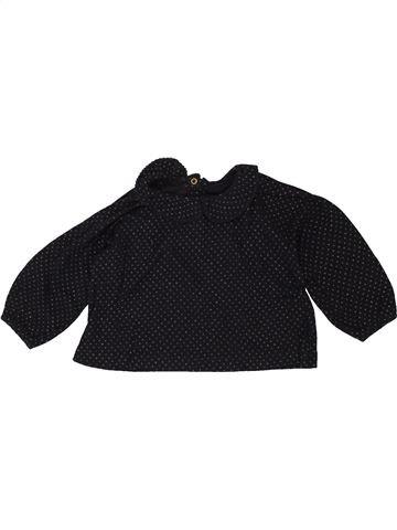 T-shirt manches longues fille PETIT BATEAU noir 12 mois hiver #1495586_1