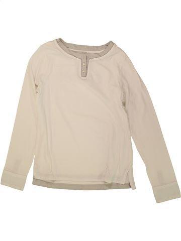 T-shirt manches longues garçon OKAIDI beige 12 ans hiver #1495612_1