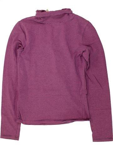 Camiseta de cuello alto niña OKAIDI violeta 10 años invierno #1495689_1