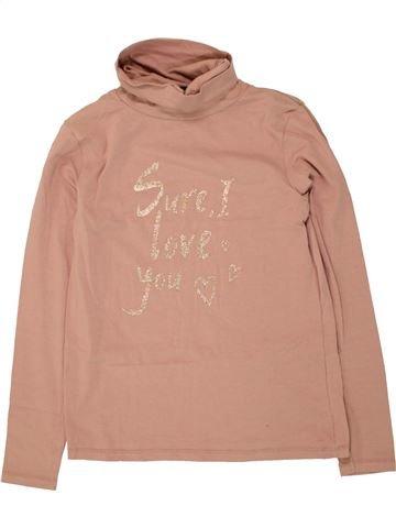 Camiseta de cuello alto niña KIABI rosa 10 años invierno #1495700_1